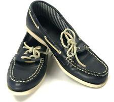 MERONA Boat Shoe Sz 8.5 Loafer Navy Blue Flats Target Women