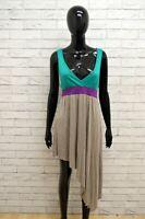 SILVIAN HEACH BASIC Vestito Donna Tubino Taglia M Abito Dress Viscosa Estivo