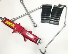 1.5 Ton Car Lift Jack Heavy Duty Scissor 4 Way Wheel Brace and Two Wheel Chocks