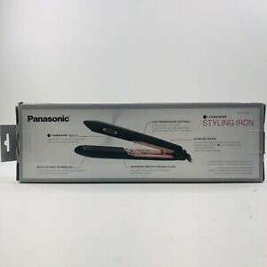 Panasonic 1 in. Hair Iron Curler Nanoe Styling Curly Hair Black EH-HS99-K235