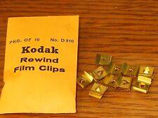 (10) Kodak Rewind Film Clips - Brass Full Packet New old Stock. #fr3