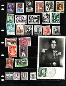 BELGIUM : NICE  'VINTAGE' STAMP COLLECTION . DISPLAYED ON 3 SHEETS. SEE SCANS