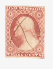 Scott 10a  Early US Stamp  3c Washington ..Pen Cancel...