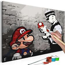 Malen nach Zahlen Erwachsene Wandbild 60x40 cm Malvorlagen Banksy n-A-0266-d-a