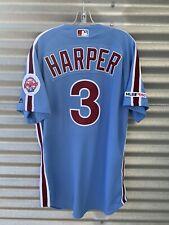 2019 Authentic Bryce Harper Philadelphia Phillies Majestic Throwback Jersey