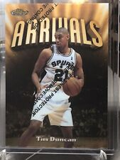 1997-98 Topos Finest Tim Duncan Arrivals Rare Gold Rc W/coating