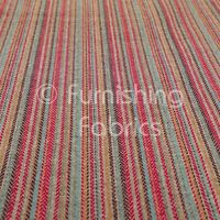 Woven Texture Durable Grey Silver Red Striped Pattern Upholstery Interior Fabric