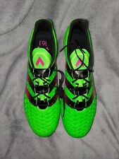 New Men'S Adidas Ace 16.1 Fg/Ag Af5083 Green Soccer Cleats. Size 10