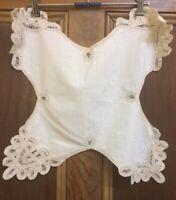 Vintage Stitched Lacework Cotton Bun Rolls Scone Cloth