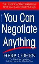 """You Can Negotiate Anything"" By: Herb Cohen Mass Market Paperback (1982)"