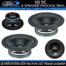 "5.25"" Midrange Pro Car Audio Loud Speaker 400W 8 ohm 1 Pair American Bass SQ 5C"