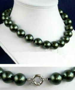 """each knot 16 mm Black South Sea Shell Pearl Necklace 20"""""""