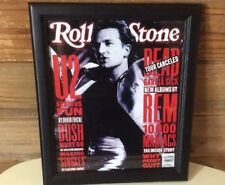 """U2 Framed Print Of 1992 Rolling Stone Cover 12""""x14"""" Allposters Pro Framed"""