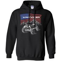 Jeep Wrangler American Flag Pullover Hoodie