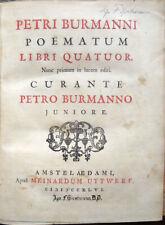 1732-1746 – BURMAN, POËMATUM LIBRI - PRO LITERATORIBUS ET GRAMMATICIS ORATIO
