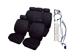 Bloomsbury Black Leather Look 8 PCE Car Seat Covers For Kia Cee'd Picanto Sporta