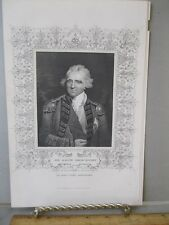 Vintage Print,SIR RALPH ABERCROMBY,English Gen,Steel Engraving,19th Cent