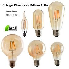 Vintage Filamento LED Edison Lampadina Regolabile E14 E27 Decorativo Industriale