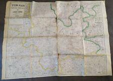 Carte Indochine frontière Nord-Ouest 1:1000000 bureau typo des troupes de l'indo