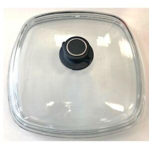 Voll-Glasdeckel eckig Größe 28 cm x 28 cm NEU