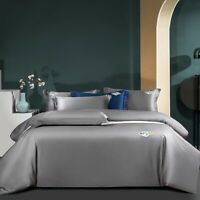 Egyptian Cotton Duvet Cover Set Bedding Set Bed Sheet and Pillowcases  4Pcs