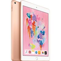 "Apple 9.7"" iPad 6th Gen 128GB Gold Wi-Fi MRJP2LL/A 2018 Model [Latest]"
