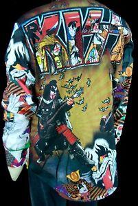 Robert Graham x Kiss Legends of Rock NWT $348 Vibrant Colorful Sport Shirt 2XL
