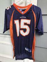 Reebok Denver Broncos Tim Tebow Navy Blue Jersey Sz Youth Large