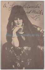 Opera singer and actress Raquel Meller in costume. Signed postcard