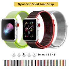 For Apple Watch iWatch Series 12 3 4 5 38-44mm Nylon Woven Sport Loop Band Strap