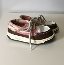 1deeb62f788 Timberland Pink White And Brown Leather Loafers Boat Shoes ~ Toddler Girls 8