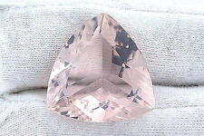 34.66 Carat Trilliant Madagascar Rose Quartz Gem Stone Gemstone Natural EBS494