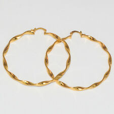 CLASSIC LARGE 60MM 18KT GOLD LAYERED EARING HOOP EARING
