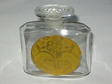 """Vintage Caron Baccarat  Perfume Bottle Le Tabac Blond 1 OZ  - 1920s - 3"""" Height"""