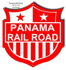 Panama Railroad Laser Cut Out Sign 14x15