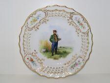 Royal Copenhagen Rare plate with pierced border, national customes