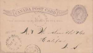 Caledonia Corners, Nova Scotia. 1886 Split Ring (1885-1904) Canada Postcard
