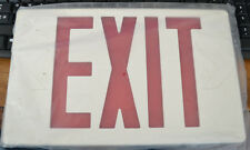 """Emergency Exit Replacement Housing Face  White with Red plastic 12.25"""" x 7.5"""""""