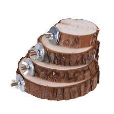 Bird Cage Accessories Pet Round Wooden Coin Jumping Platform Chew Toy for P0F6