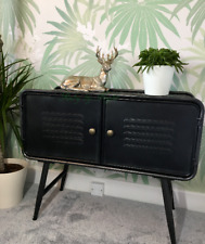 Industrial Metal Bedside Cabinet Storage Unit Cupboard Steampunk Warehouse Table