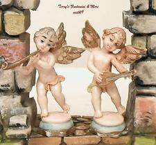 "Italy 3"" Musical Pedestal Pair Of Cherub Angel Figures"