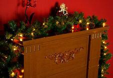 LED Tannengirlande mit 40 LED Lichterkette - AUßEN - Girlande Weihnachtsgirlande