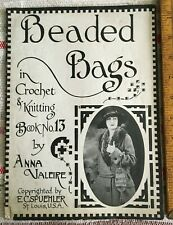 Antique Booklet Beaded Bags in Crochet and Knitting #13 Anna Valeire