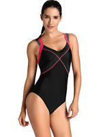 Women's One Piece Dual Crossback Athletic Training Swimsuit