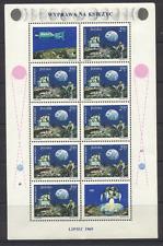 Polonia 1969 spazio/Luna Atterraggio/MOON WALK 8 V + etichetta s2851
