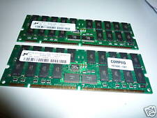 Kit 1GB 2GB ECC PC133 133 Mhz PC-133R-333-542-Z Micron