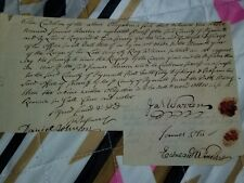 General James Warren autographed document 1762
