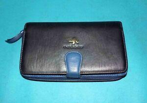 grand portefeuilles GIL HOLSTERS chéquier, cartes , stylo etc en cuir bleu