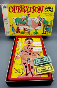 Vintage 1965 Milton Bradley Operation-Game Rare 4545-Smoking Doctor-COMPLETE