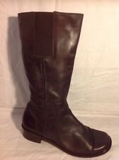 Relaxshoe Brown Mid Calf Leather Boots Size 40